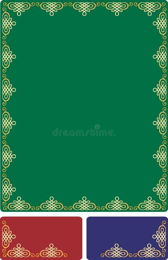 guld- barock ram royaltyfri illustrationer