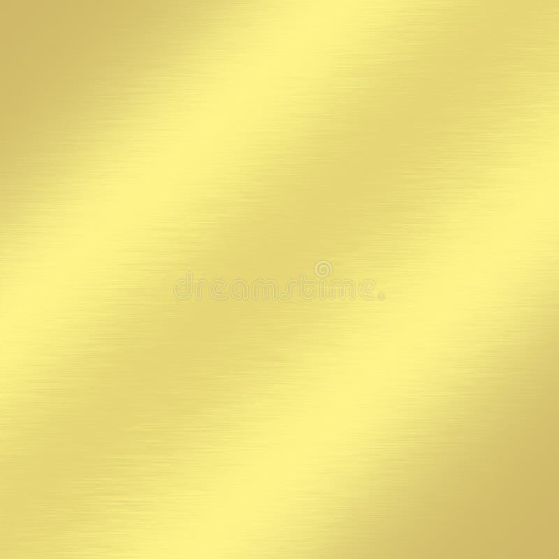 Guld- belägga med metall texturerar bakgrund med subtilt snett fodrar av ljus dekorativ hälsningskortdesign vektor illustrationer