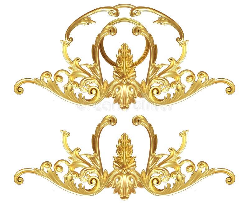 Guld- beståndsdel stock illustrationer