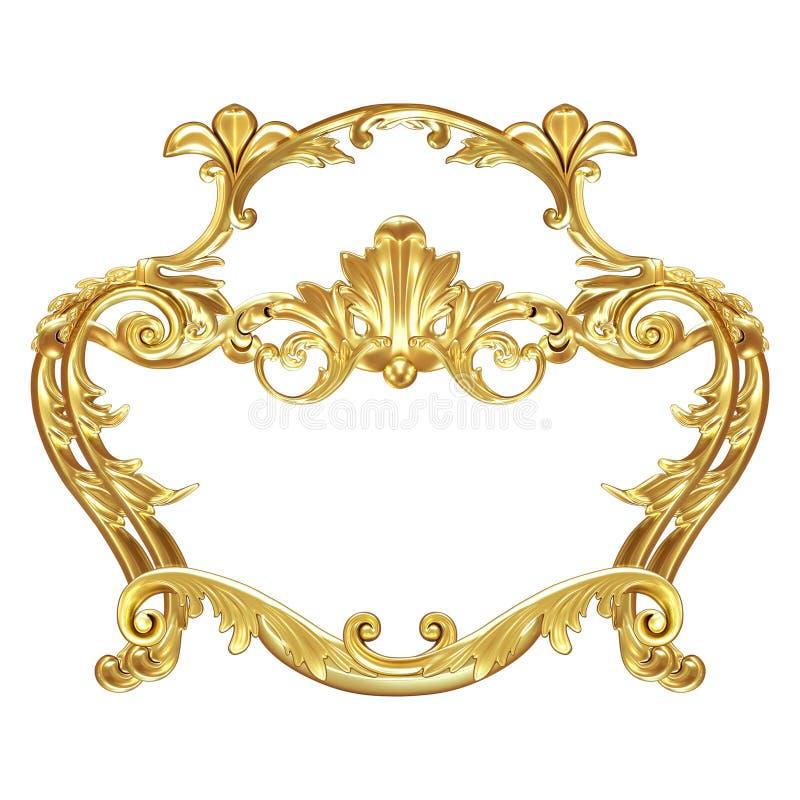 Guld- beståndsdel royaltyfri illustrationer