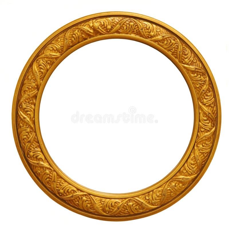 guld- bild för rund ram royaltyfri bild