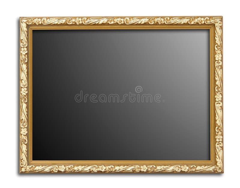 Guld- bildram royaltyfria foton