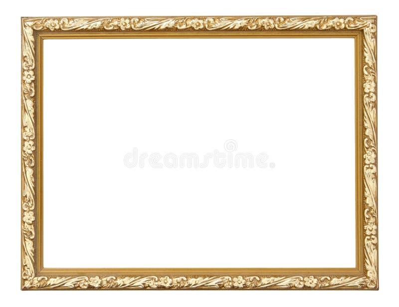 Guld- bildram som isoleras på vit royaltyfria bilder