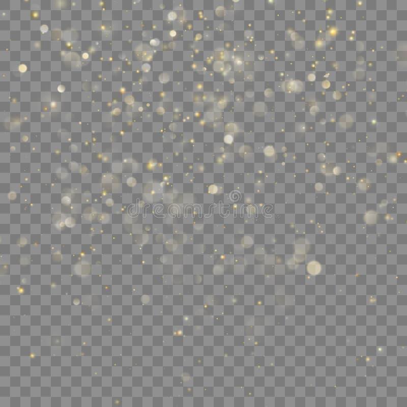 Guld- blänka juleffekt Vektor för EPS 10 vektor illustrationer
