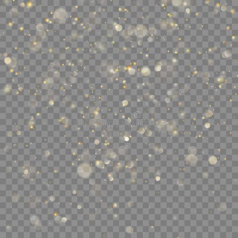 Guld- blänka juleffekt Vektor för EPS 10 royaltyfri illustrationer