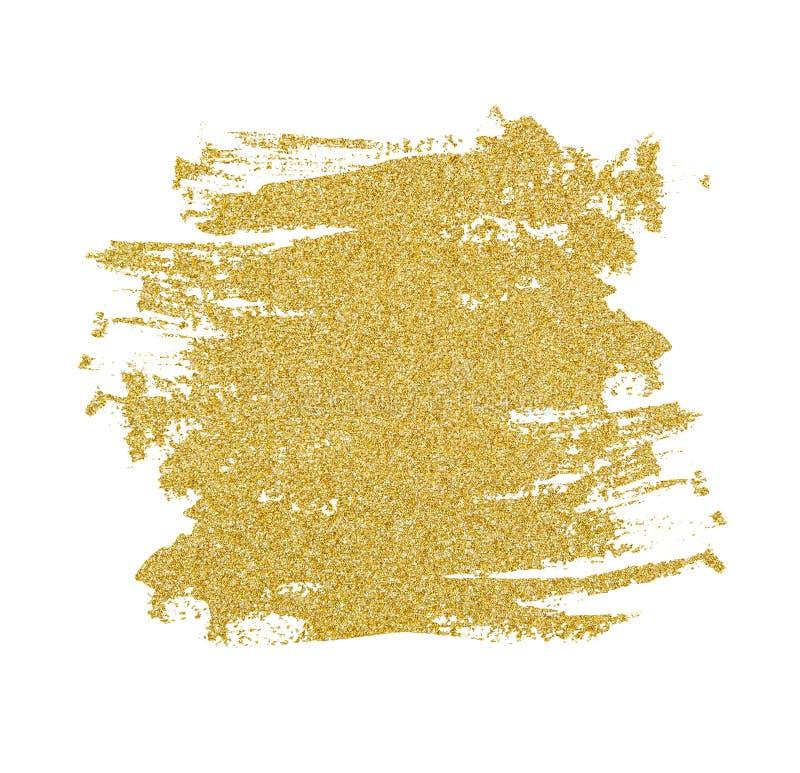 Guld- blänka penseldrag royaltyfri bild