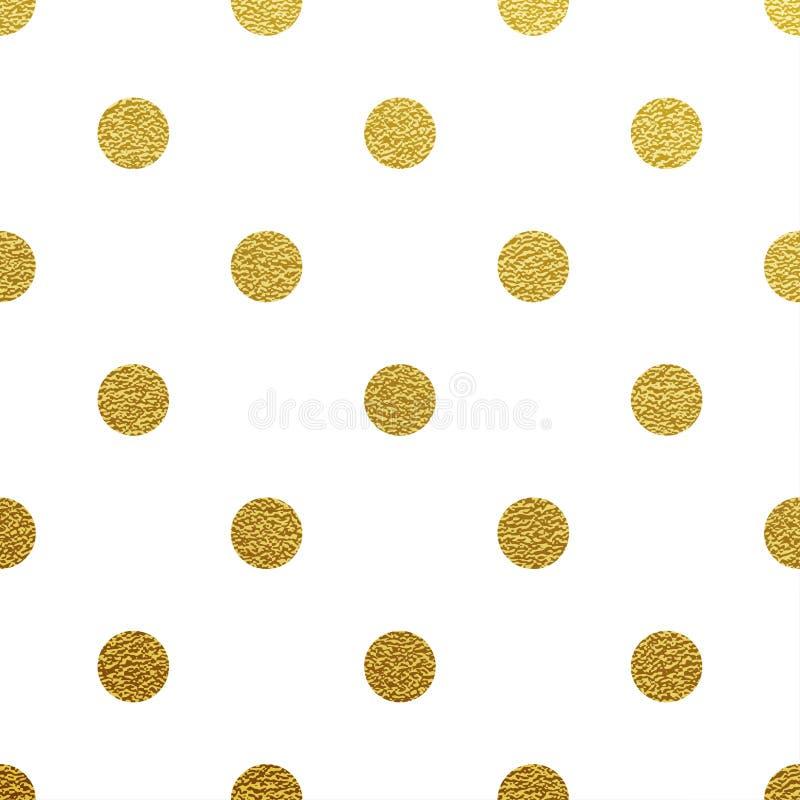 Guld- blänka prickmodell stock illustrationer