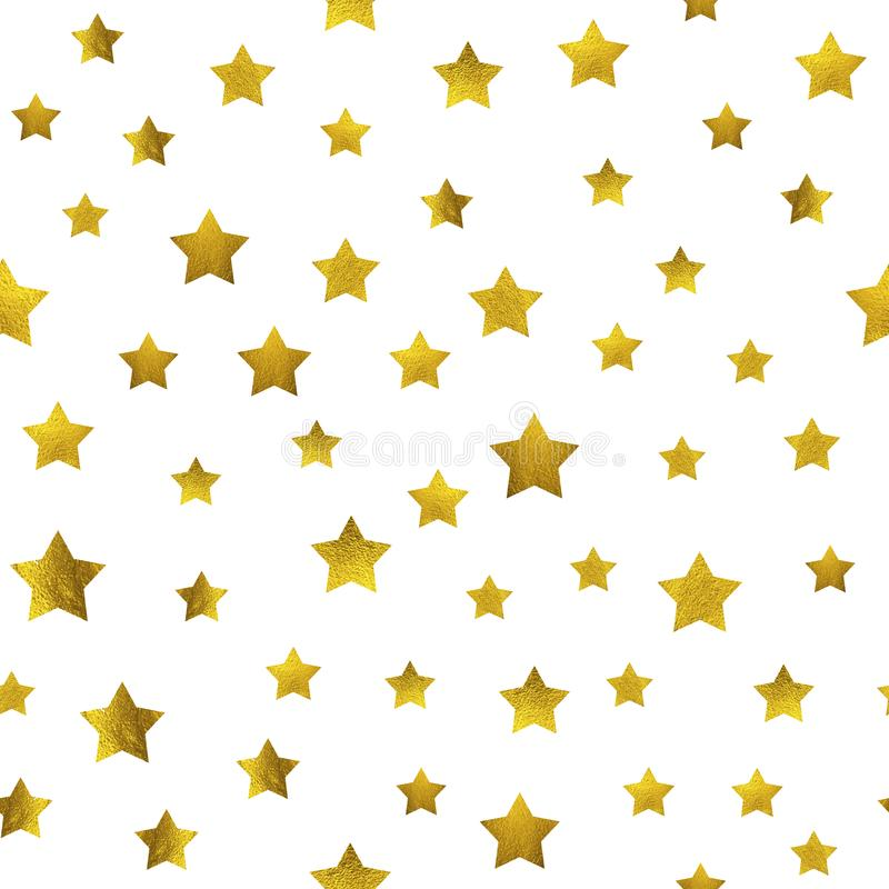Guld- blänka stjärnamodell royaltyfri illustrationer