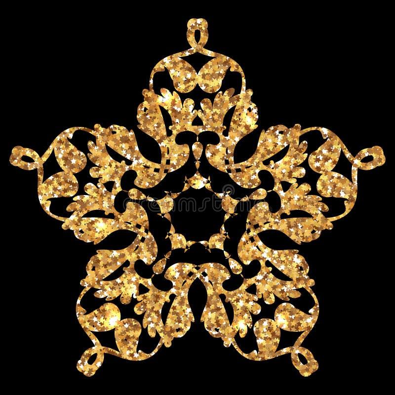 Guld- blänka texturerar royaltyfri illustrationer
