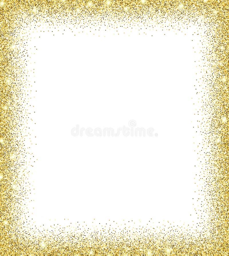 Guld blänker bakgrund royaltyfri illustrationer