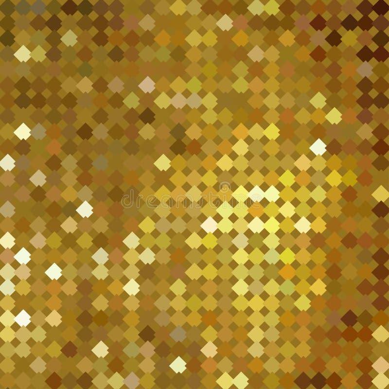 Guld- bokehmodellbakgrund Lyxig guld- modell royaltyfri illustrationer