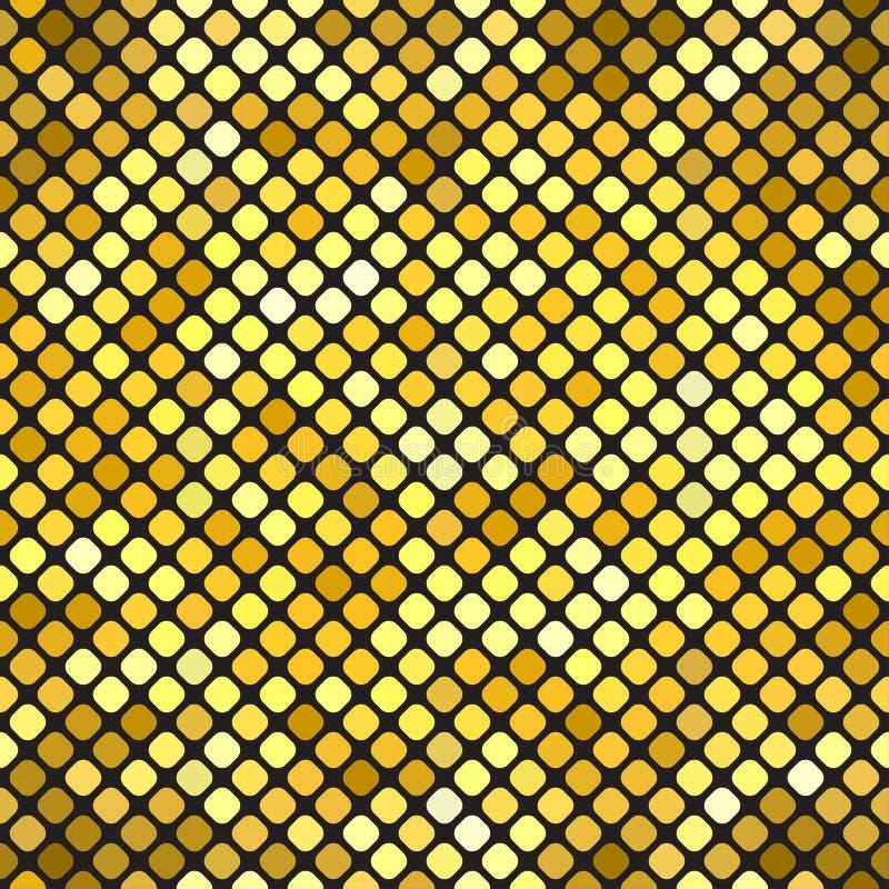 Guld- bokehmodellbakgrund Lyxig guld- modell stock illustrationer