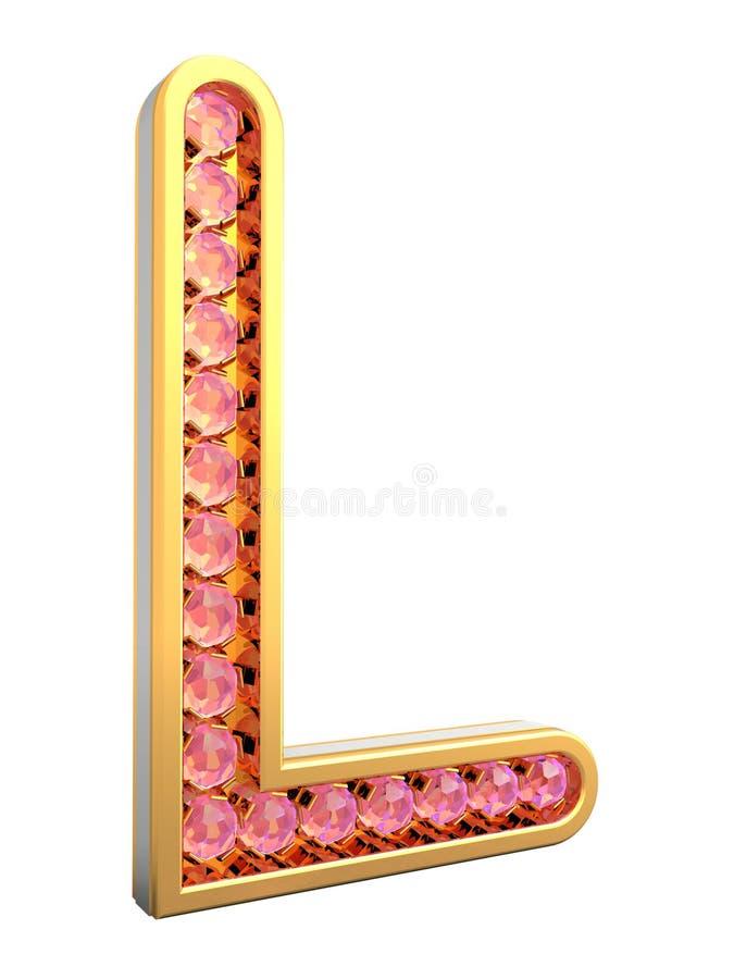 guld- bokstav royaltyfri foto