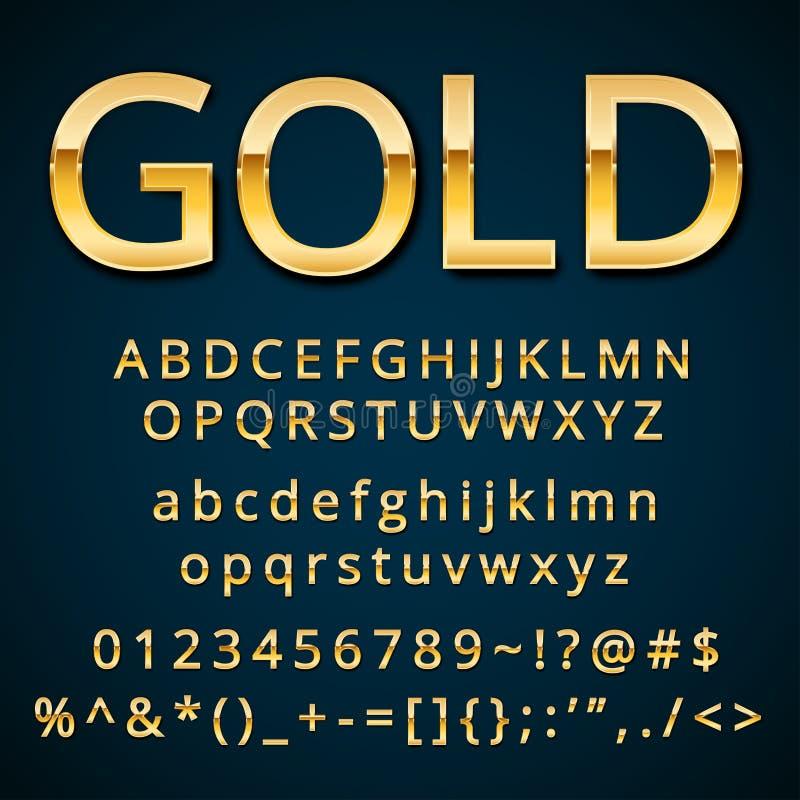 Guld- bokstav vektor illustrationer