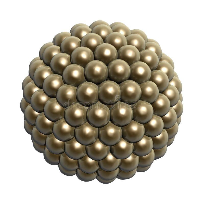 guld- bollar vektor illustrationer