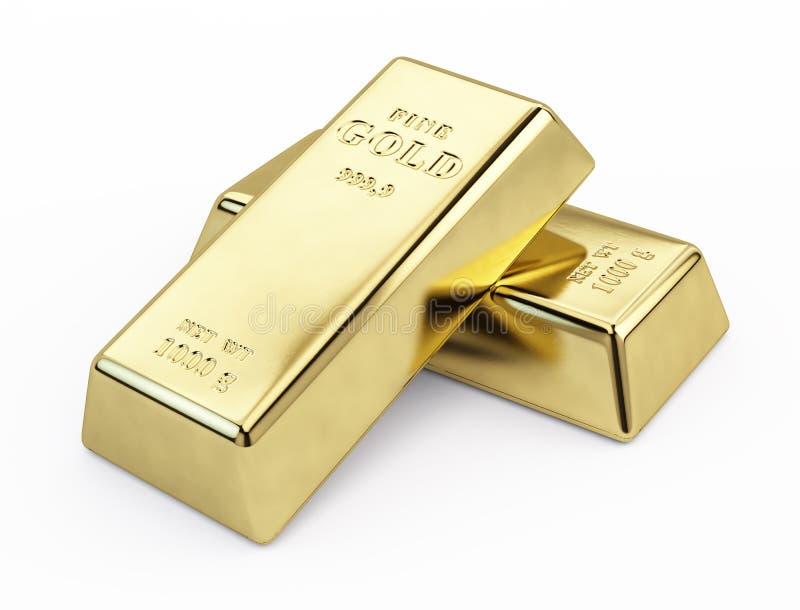 Guld- bommar för stock illustrationer