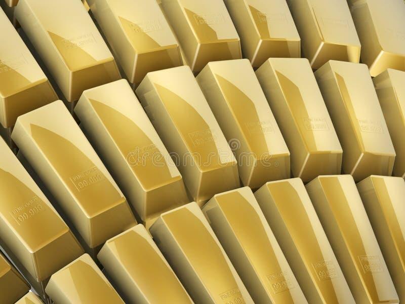 Guld- bommar för arkivfoton