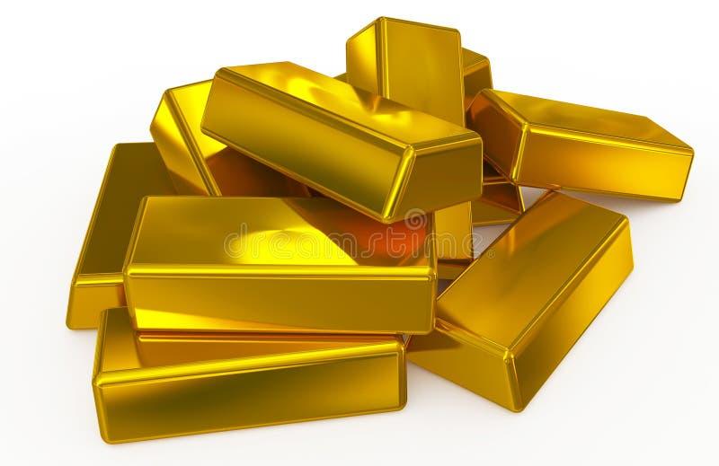 Guld- bommar för högen stock illustrationer