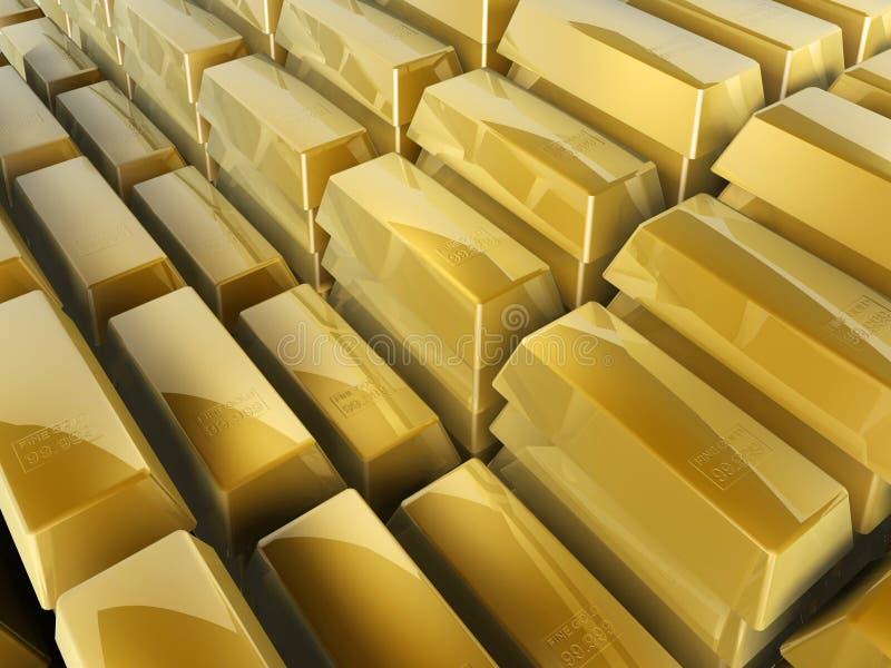 Guld- bommar för kliver royaltyfri fotografi
