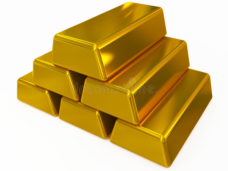Guld- bommar för royaltyfri illustrationer