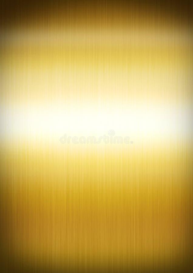Guld borstad metallbakgrundstextur vektor illustrationer