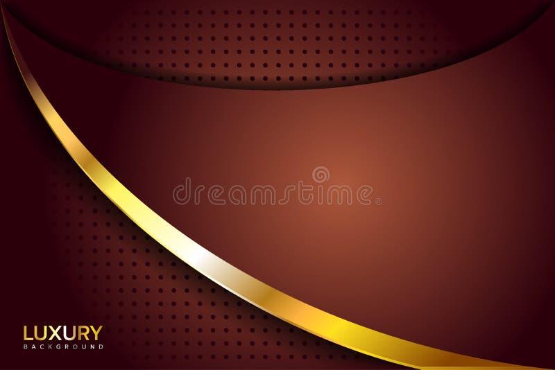 Guld- brun lyxig elegant bakgrund vektor illustrationer