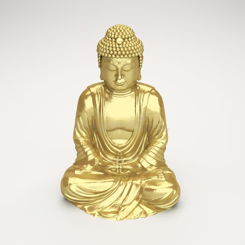 guld- buddha figurine vektor illustrationer