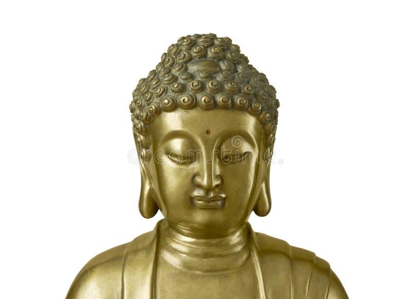 Guld- Buddha på vit bakgrund royaltyfri fotografi
