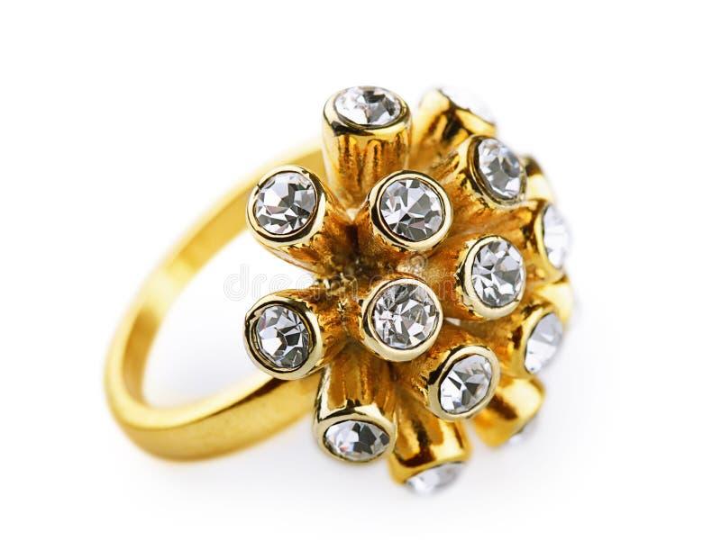 guld- cirkel för diamanter royaltyfria foton