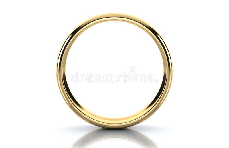 Guld- cirkel som isoleras på vit bakgrund stock illustrationer
