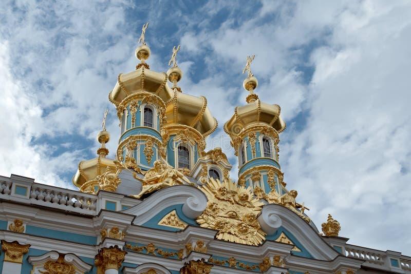 guld- cupolas royaltyfri bild