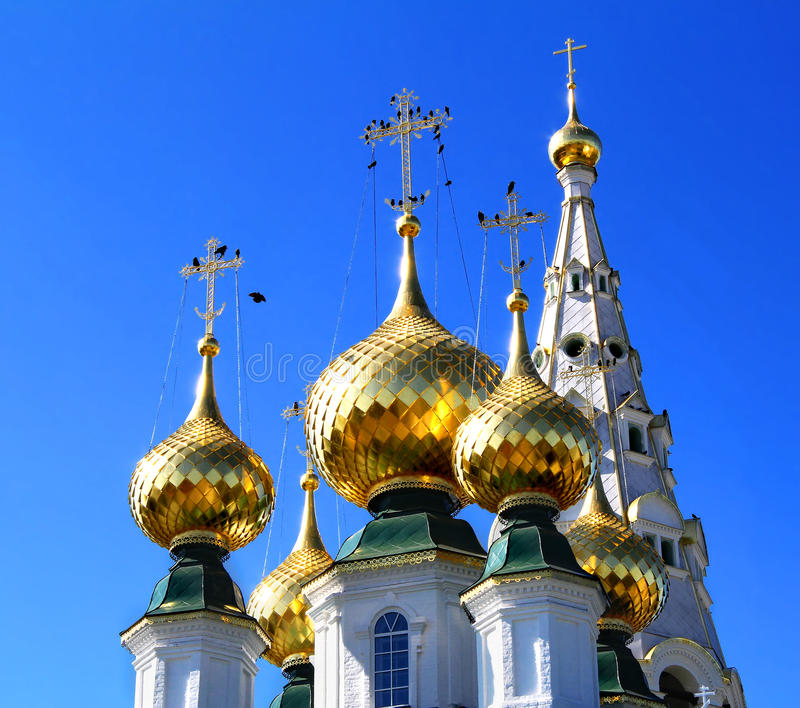 guld- cupolas arkivfoto