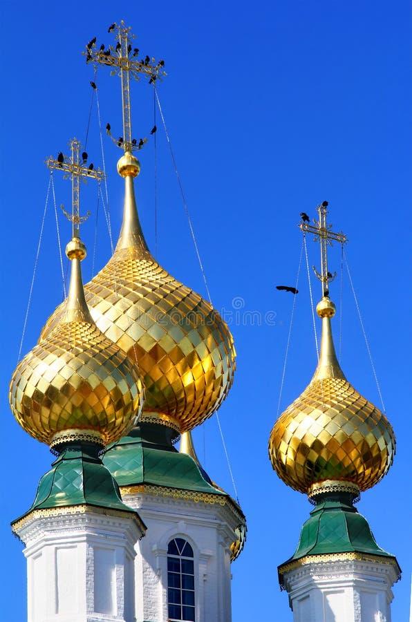 guld- cupolas royaltyfria foton