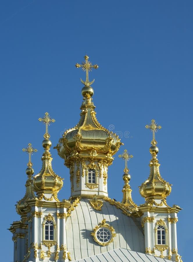 Guld- cupolas av rysskyrkan arkivfoto