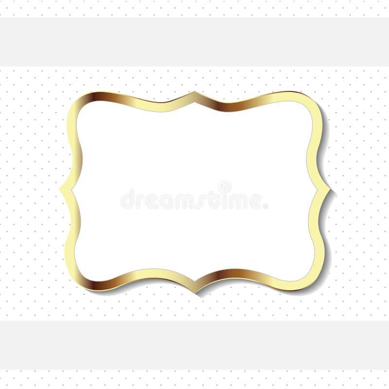 Guld- dekorativ tappningrambeståndsdel royaltyfri illustrationer