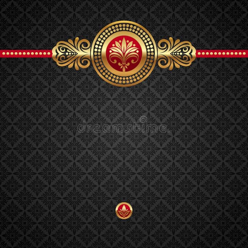 guld- dekorativt för bakgrundselement vektor illustrationer