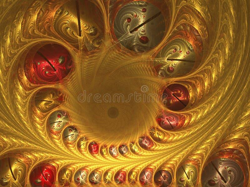 guld- design royaltyfri illustrationer