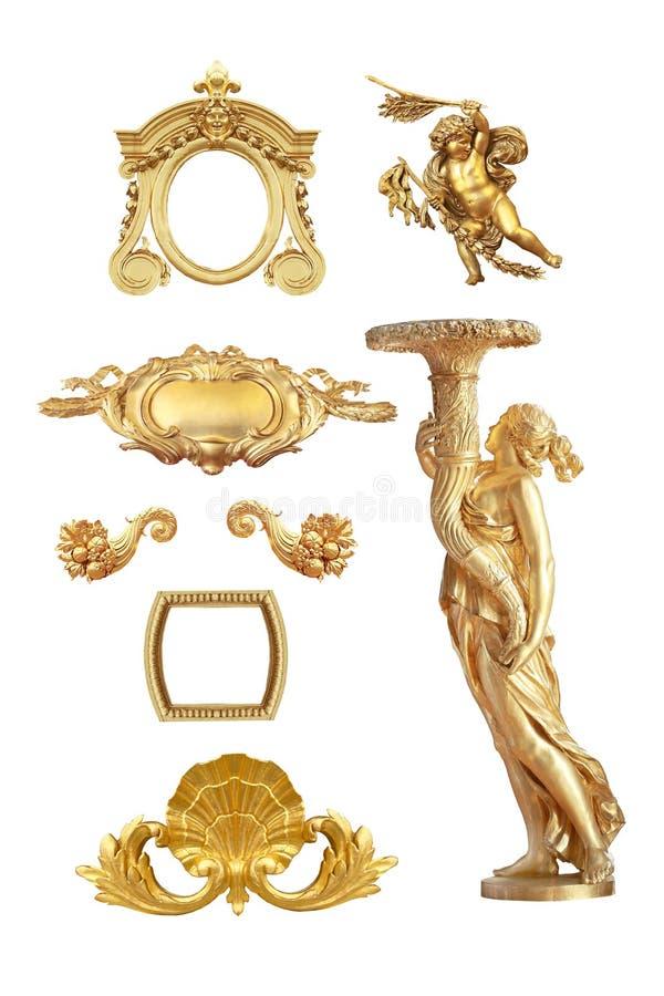 Guld- detalj royaltyfri fotografi