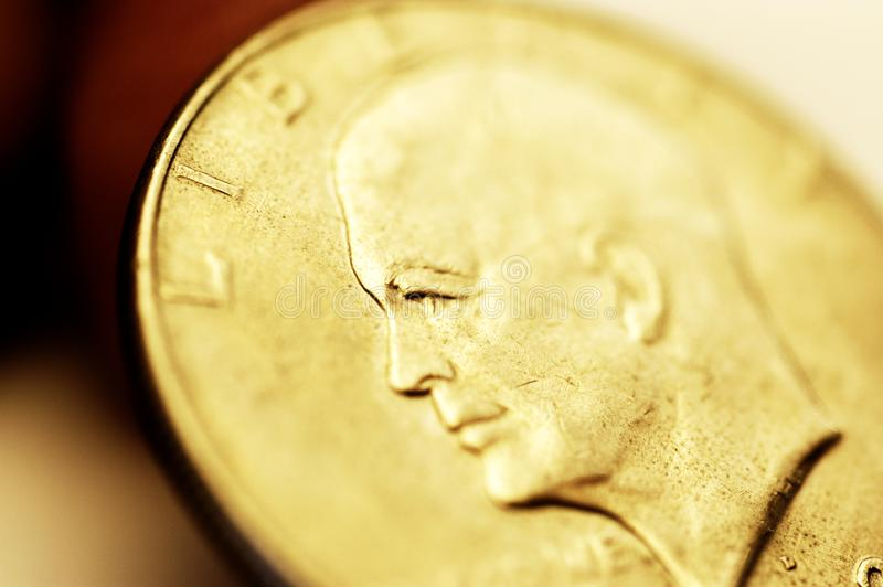 Guld- dollar royaltyfri foto
