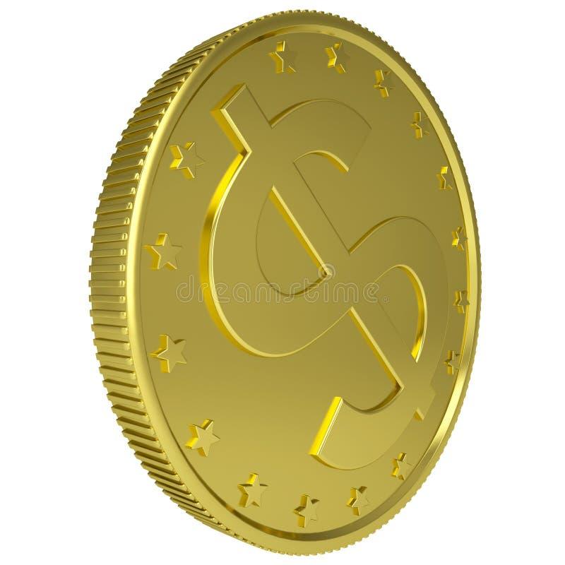 Guld- dollar royaltyfri illustrationer