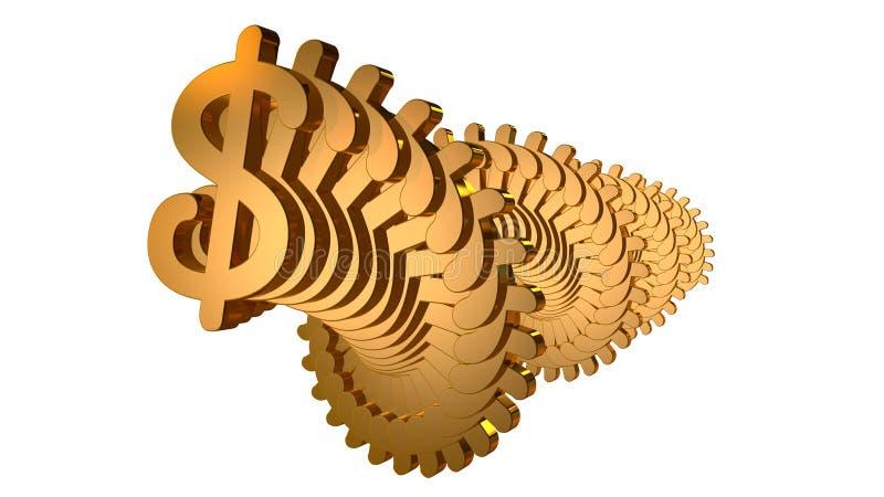 Guld- dollarspiral fotografering för bildbyråer