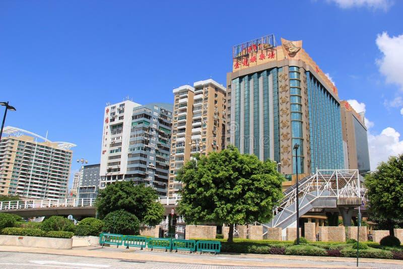 Guld- drake för hotell i Macao arkivfoto