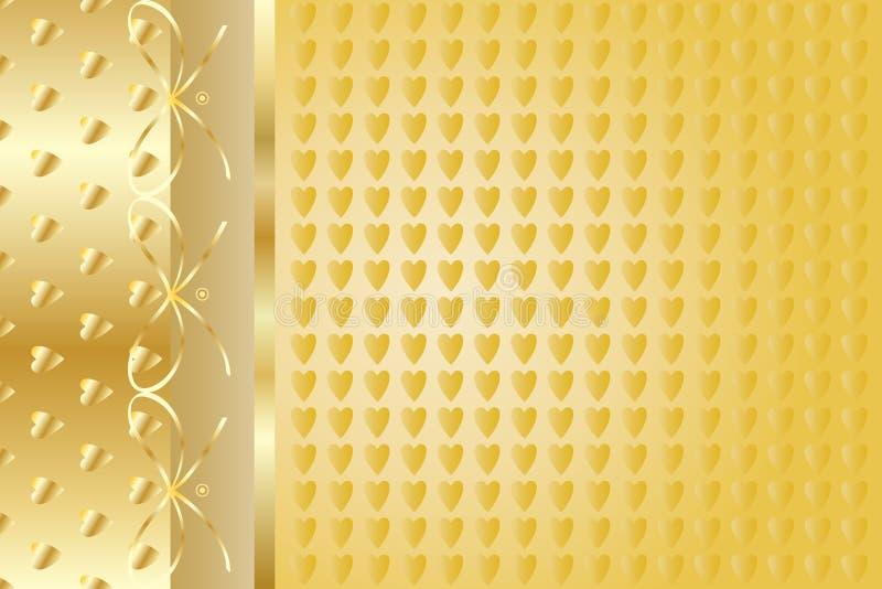 Guld- elegant bakgrund royaltyfri illustrationer