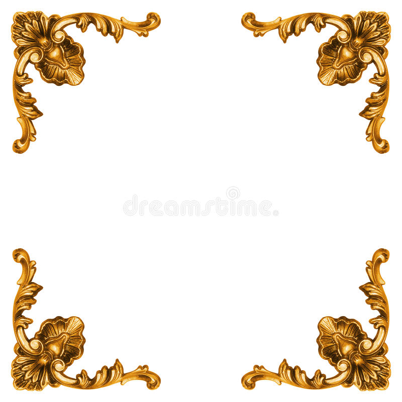 Guld- element av den sned ramen royaltyfri foto
