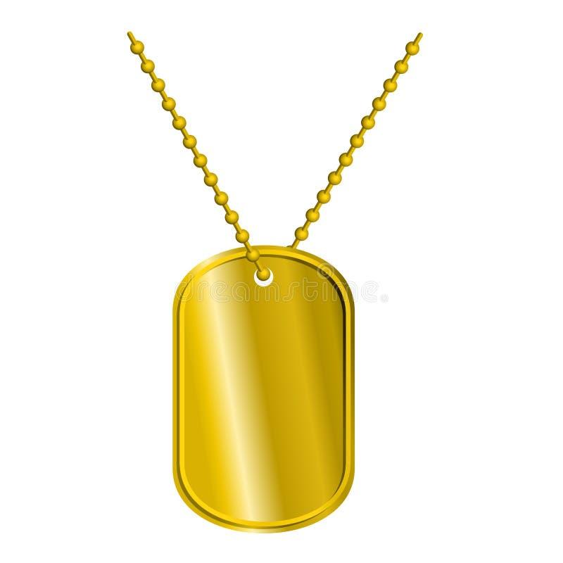 Guld- emblemsoldat Armémedaljong för rich av ädelmetall vektor illustrationer