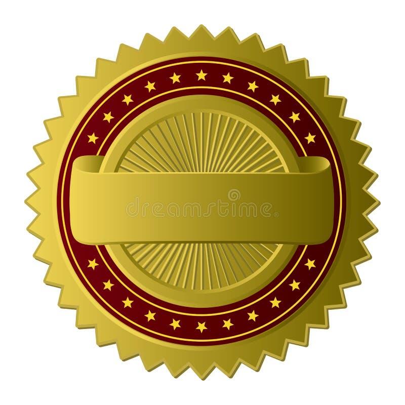 guld- etikett royaltyfri illustrationer