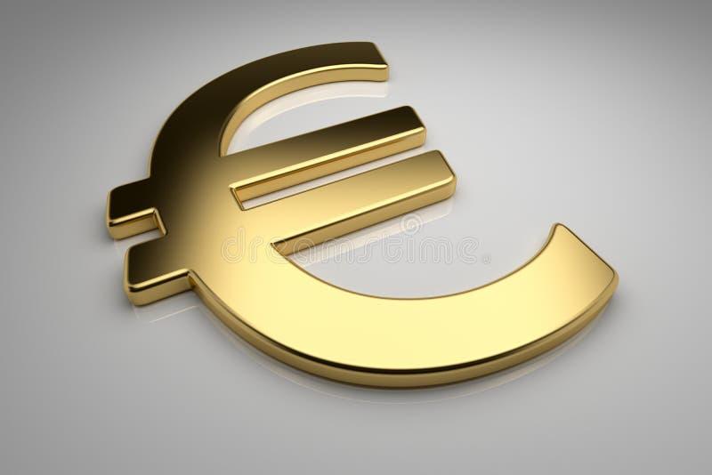 Guld- euro stock illustrationer