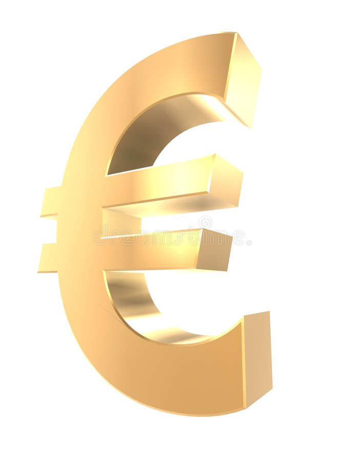 guld- euro stock illustrationer