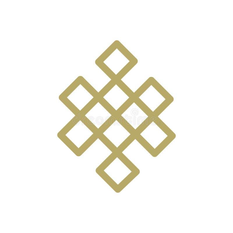 Guld- evig fnuren royaltyfri illustrationer