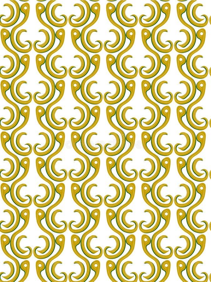 Guld- färg för geometriska modeller vektor illustrationer